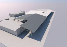 Будівництво навісу (металоконструкції) 1440 м2.